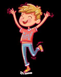 illustration of a happy boy