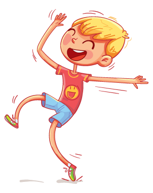 illustration of a happy boy