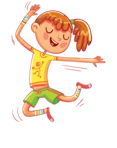 illustration of a happy girl